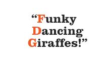 Fluffy dancing Giraffes