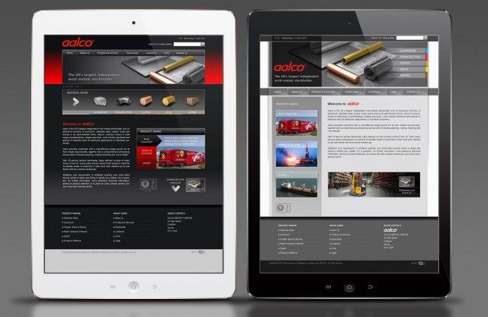 Aalco website concepts